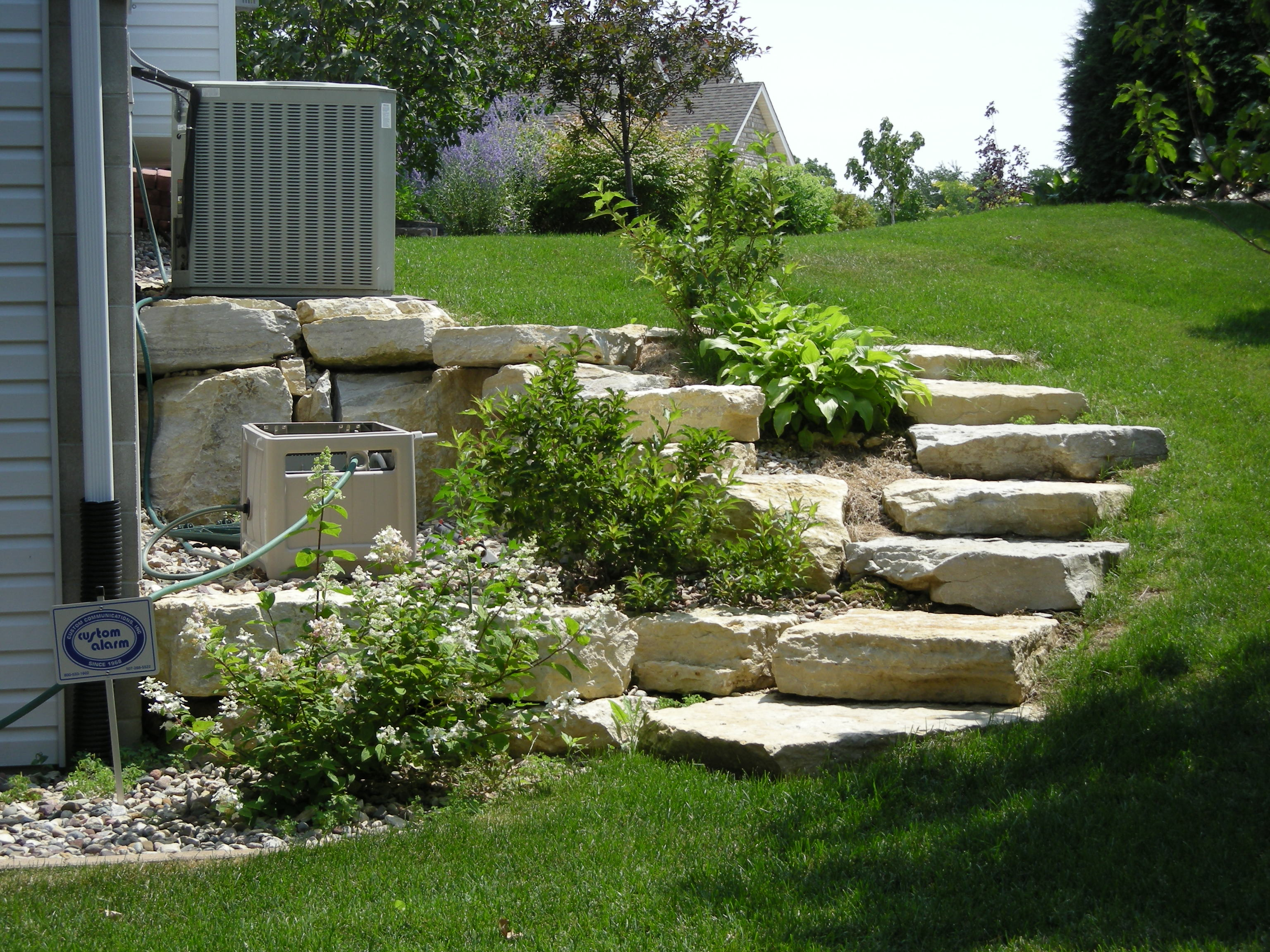 Limestone steps rochester mn for Garden design jobs ireland